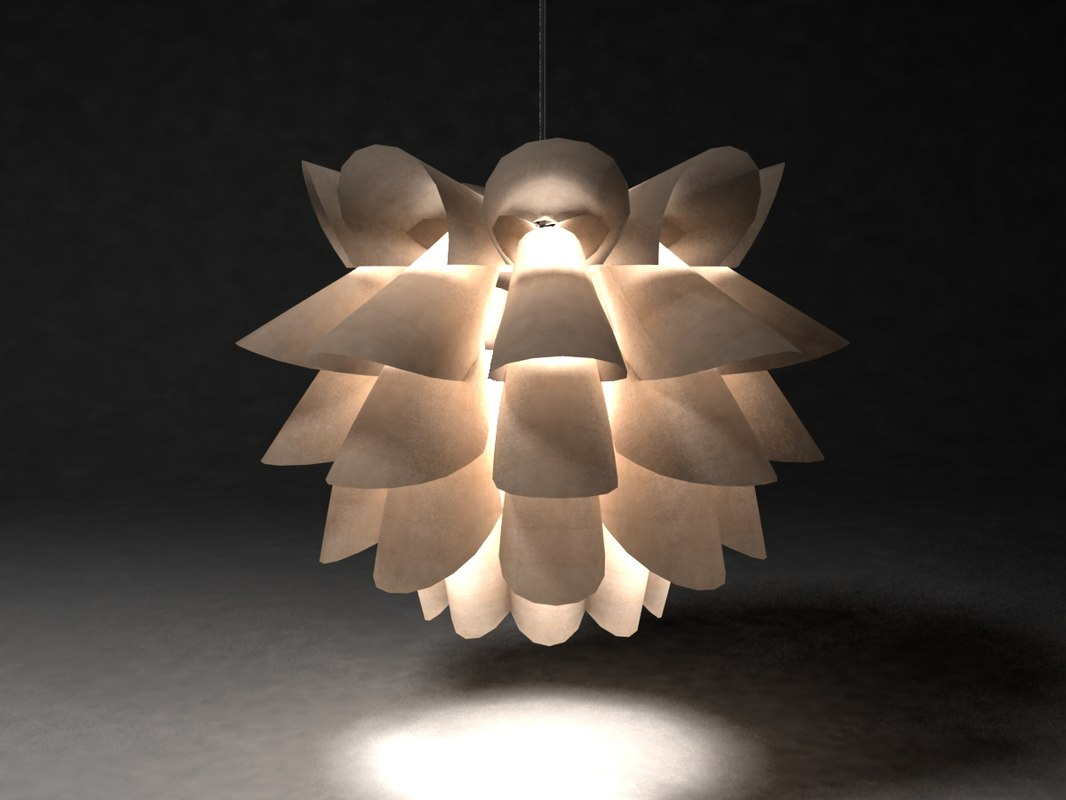 3d ikea lamp light model