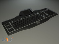 logitech g19 gaming keyboard 3d model