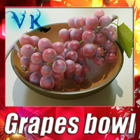 Red grapes + Bowl