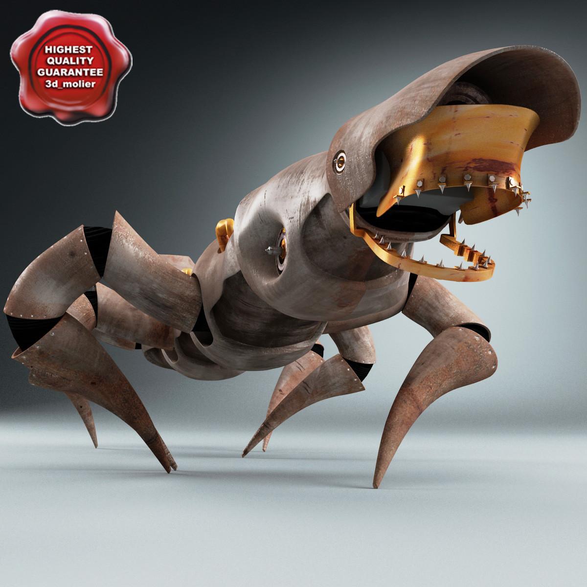 3d model of robot spider r4