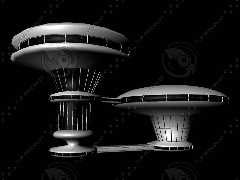 maya sci-fi building
