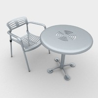 3d outdoor toledo chair table model