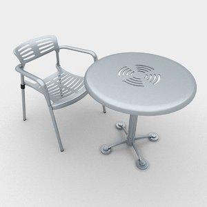 3d outdoor toledo chair table model