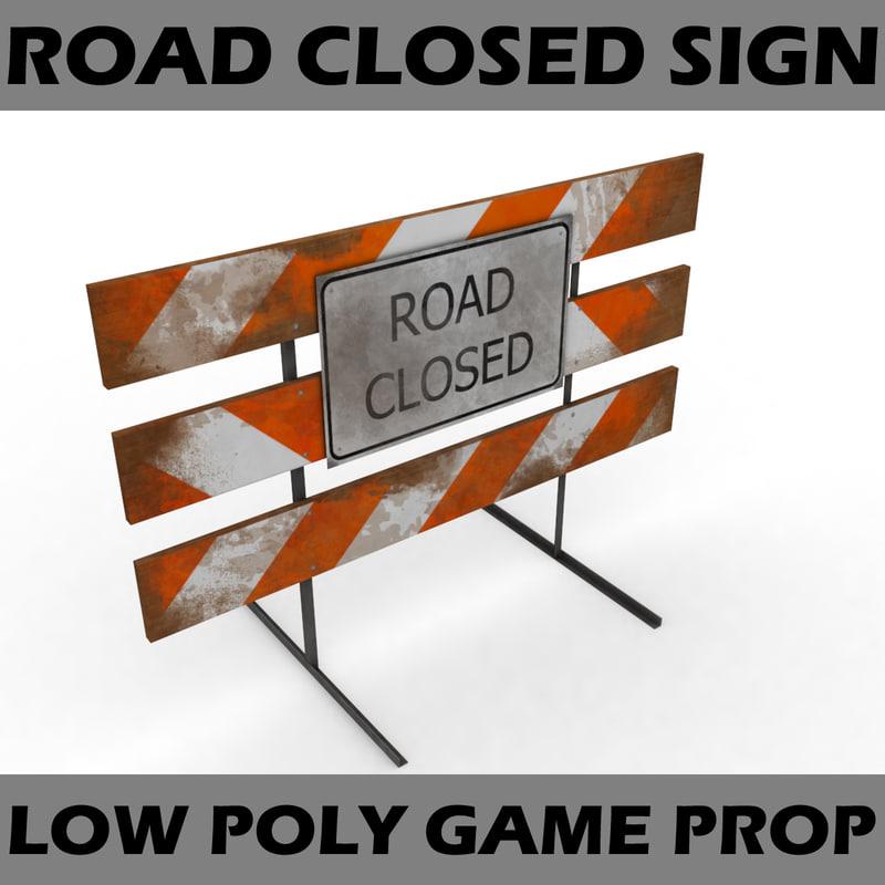 road closed sign max