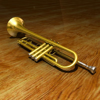 trumpet modeled blender 3ds