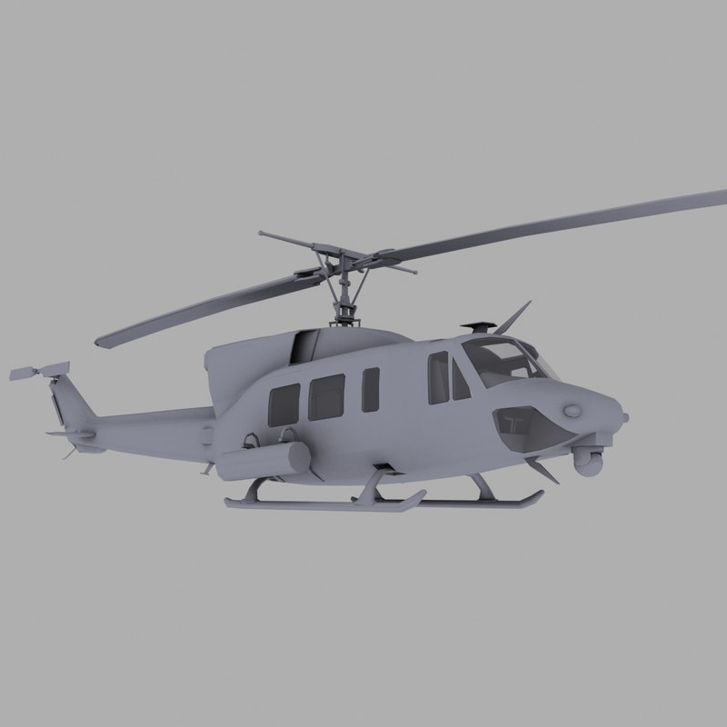3d helicopter huey uh-1n