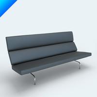 3d charles eames vitra sofa compact