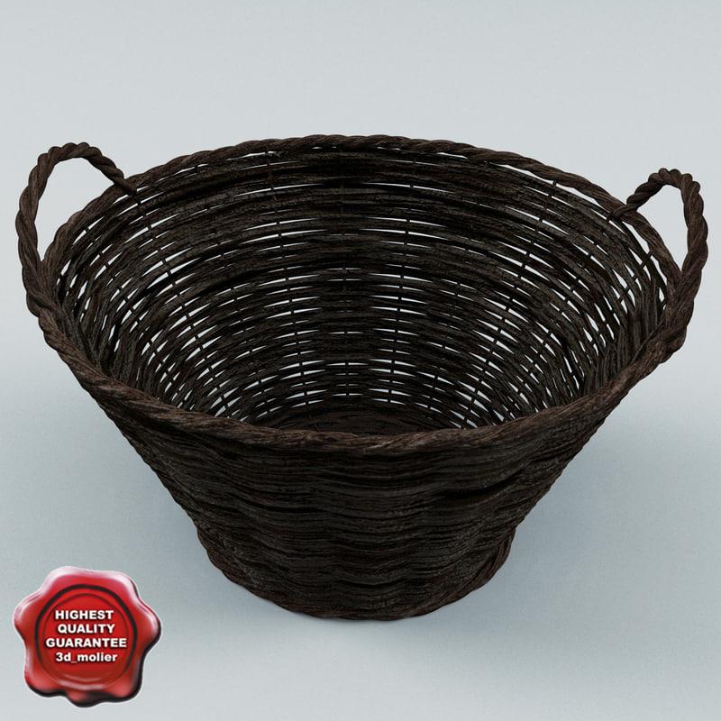 3ds wicker basket