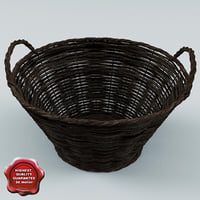 3ds wicker basket