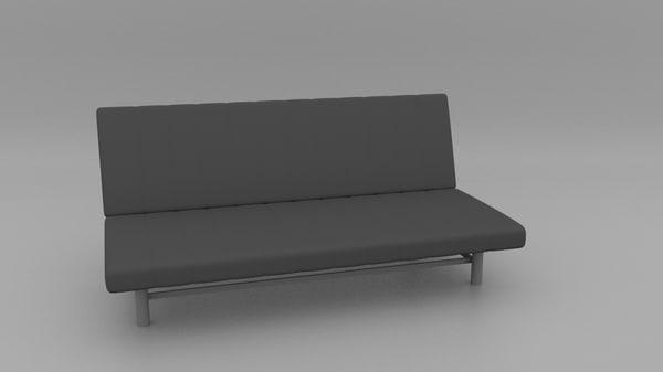 3d ikea beddinge sofa