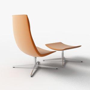catifa 70 lounge chair 3d model