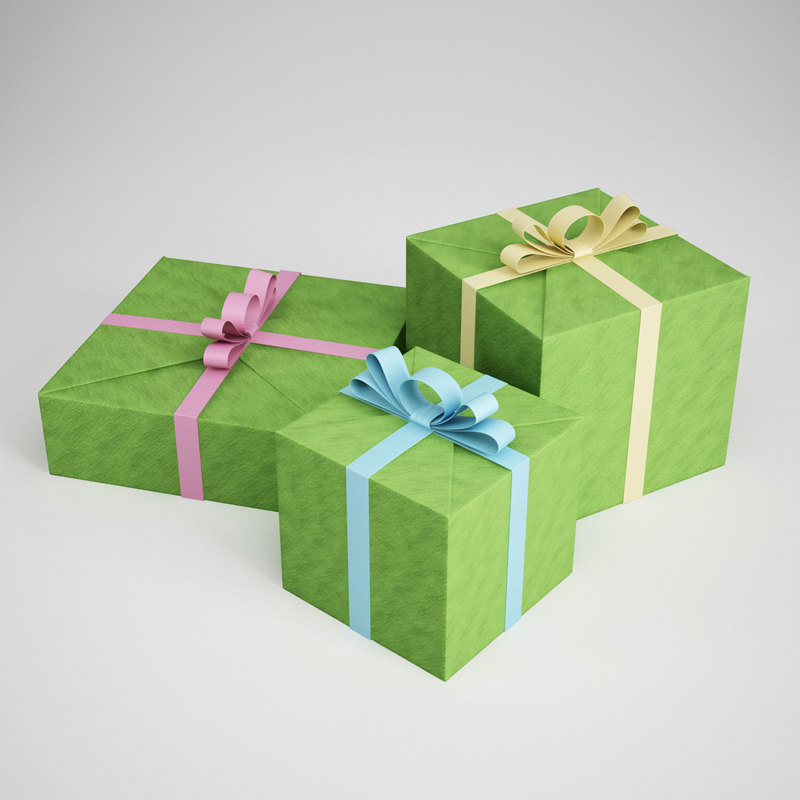party gifts 3d c4d