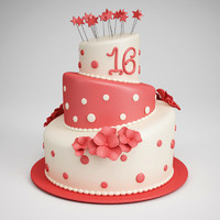 CGAxis Birthday Cake 11