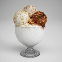 CGAxis Ice Cream in Dish 15