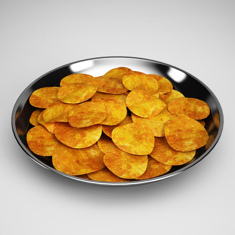 potato chips 18 3d obj