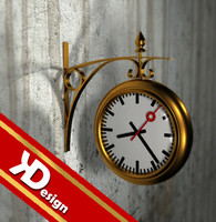 old clock obj