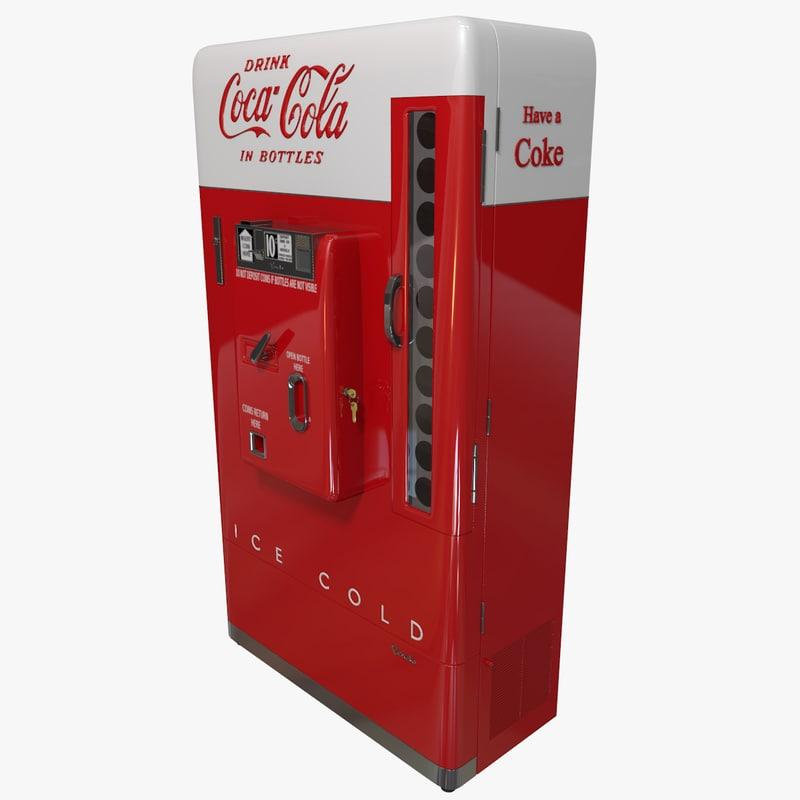 vintage coke machine 3d model