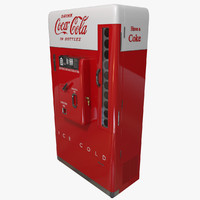 vintage coke machine 3d model