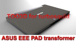 3d asus eee pad keyboard model