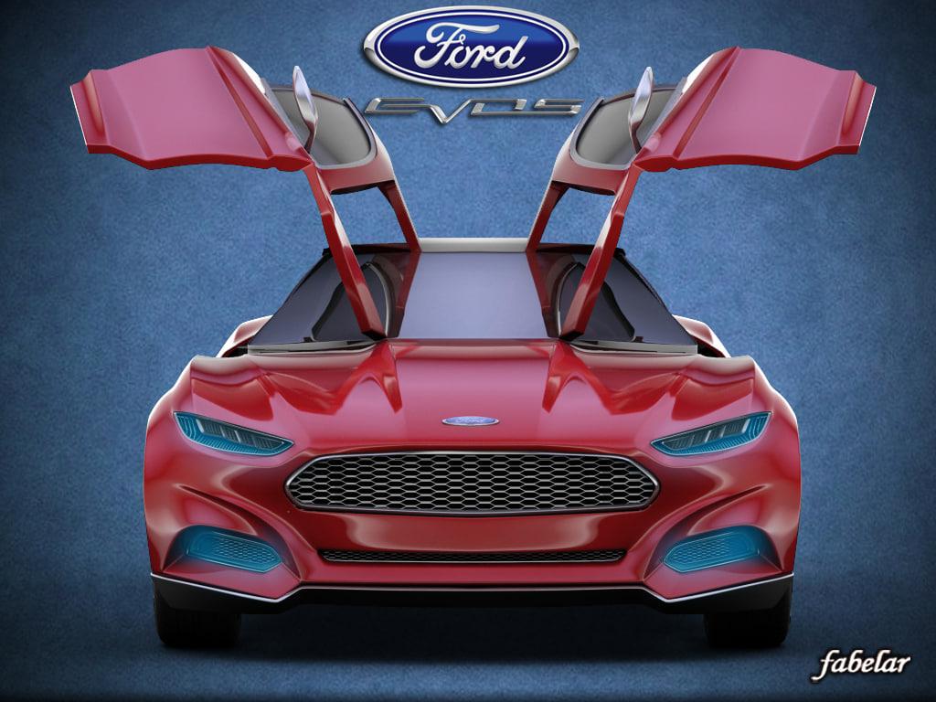 evos concept rigged car 3d model