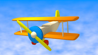 3d model of toy plane