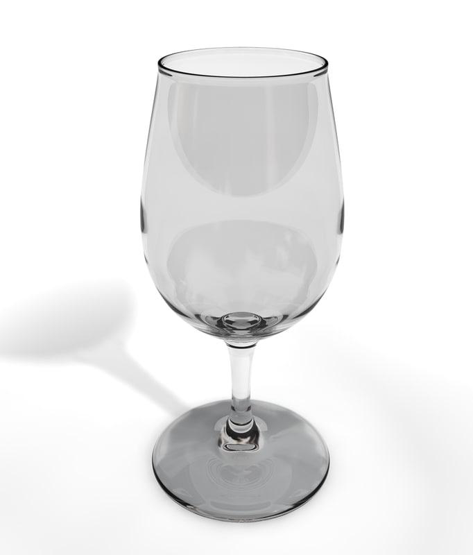 3d glass glas model
