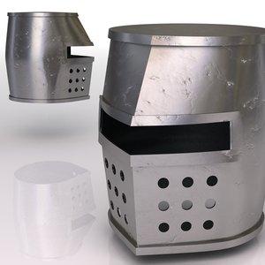 3d model knight helmet