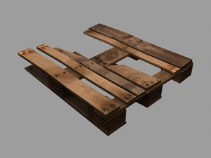 3ds max wooden pallet