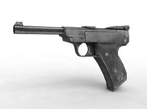 luger parabellum pistol 3d max
