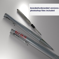 business ballpoint pen ball 3d model