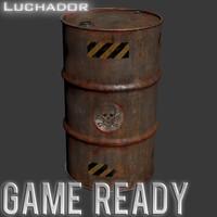 3d barrel games ready model