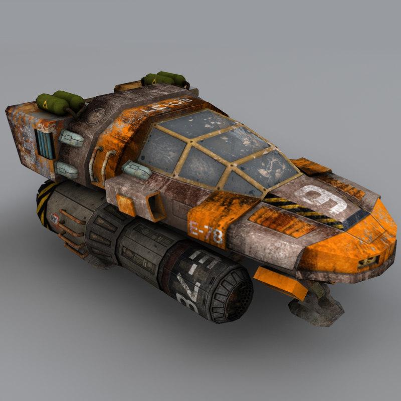 3ds max spacecraft vehicle
