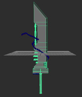3d model of mod sword cloud