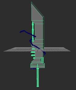 3d model of mod sword cloud