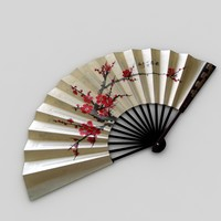 3ds max hand fan