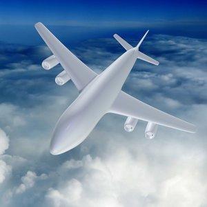 passenger air liner schematically 3ds