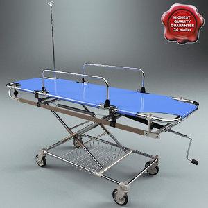 3d model ambulance stretcher wjd5 1e