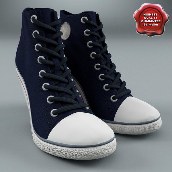 ash spot canvas heeled 3d c4d