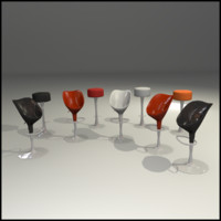 3ds set chairs interior bar