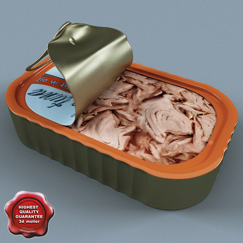 3d canned tuna open