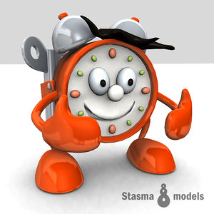 3d smiling clock model