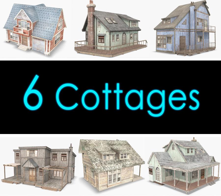 3d cottage houses