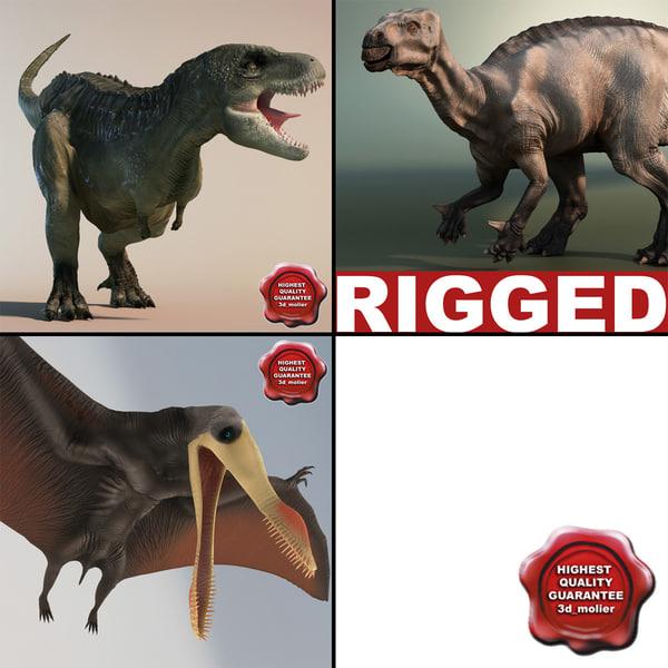 3dsmax dinosaurs rigged