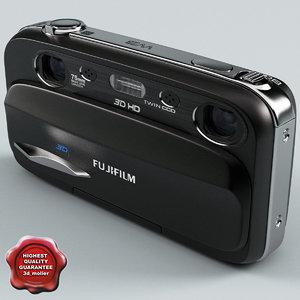 3d model of fujifilm finepix real w3