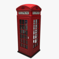 k2 telephone box 3d max
