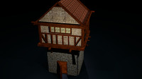 free 3ds mode medieval house