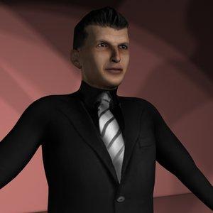 mafia male man 3d model