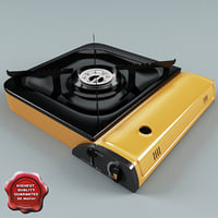 portable gas stove 3d model