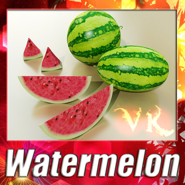 watermelon resolution 3d model