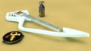 3d model prince c guitar